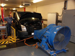 Dual Fuel Ford Transit Development Vehicle at Prins Emissions Lab