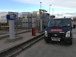 Ford Transit Diesel LPG/CNG Dual Fuel Vehicle Filling at CNG Services, Crewe